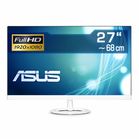 "68 cm (27"") ASUS VZ279HE-W IPS-Panel, 1920×1080 (Full HD), VGA, 2x HDMI, LED-Backlight"
