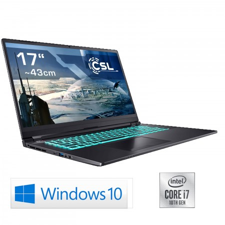 Notebook CSL Gaming i7-10750H / RTX 3070 / 1000GB SSD / 16GB RAM / Windows 10 Home