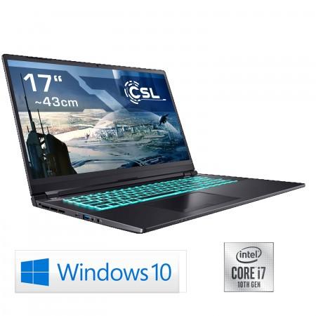 Notebook CSL Gaming i7-10750H / RTX 3080 / 1000GB SSD / 32GB RAM / Windows 10 Home