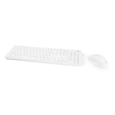 CSL BASIC wired Tastatur und Maus, weiß