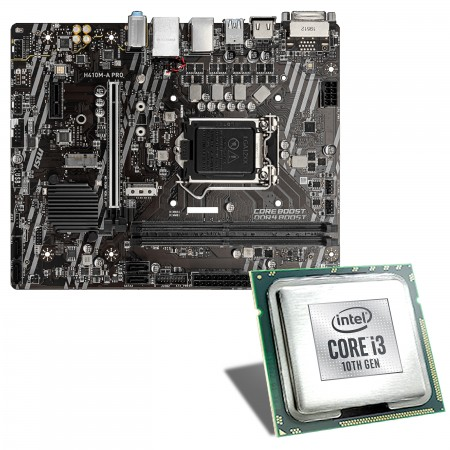 Intel Core i3-10100 / MSI H410M-A Pro Mainboard Bundle