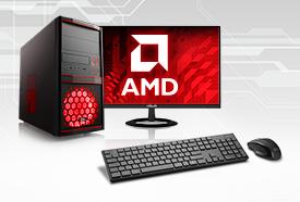 AMD PC-Systeme mit Monitor