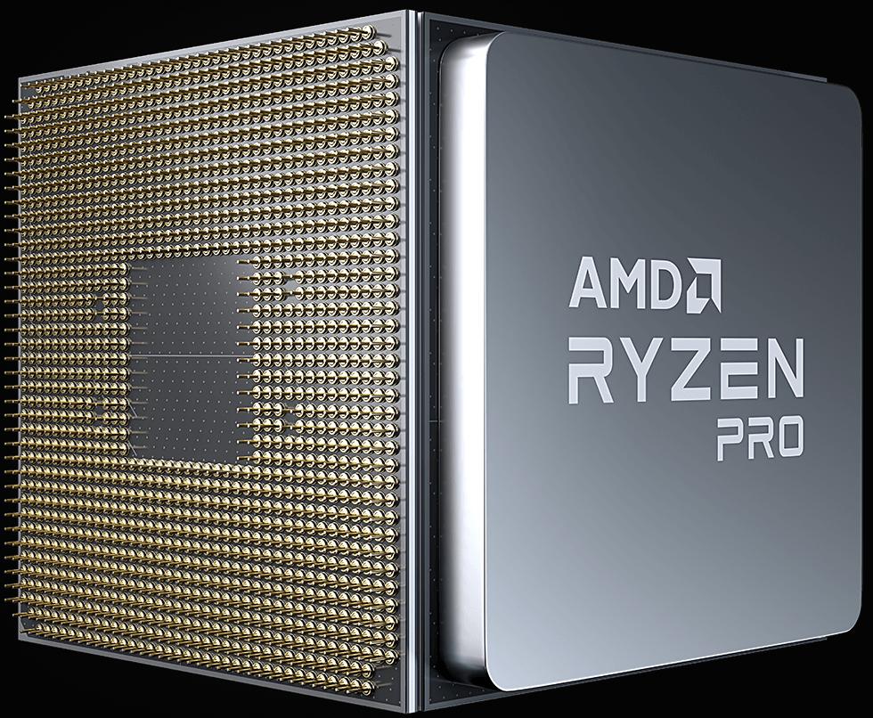 AMD Ryzen PRO CPU Vorder- & Rückseite
