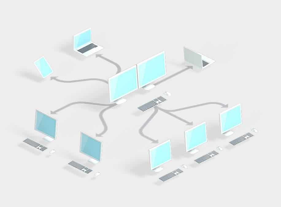 Vernetzung PCs, Tablets, mobile Geräte