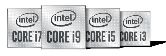 Intel Core Prozessoren Logos