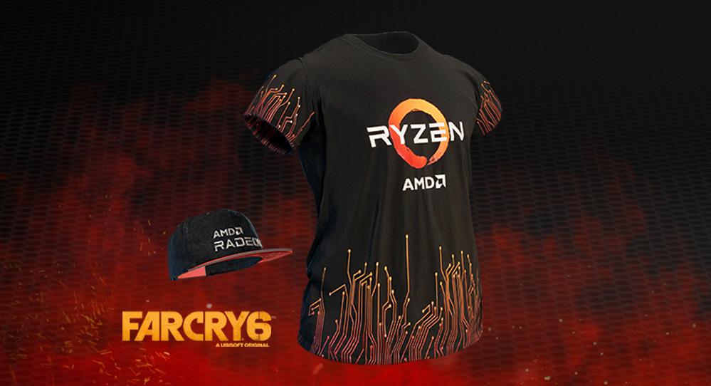 exklusive AMD Radeon™ Game Baseballmütze und das AMD Ryzen T-Shirt