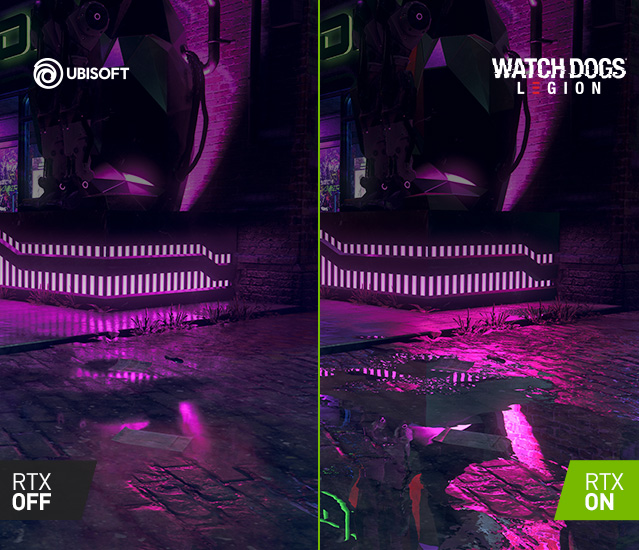 Raytracing: Watch Dogs Legion - On Off