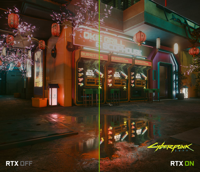 Raytracing: Cyberpunk 2077 - On Off