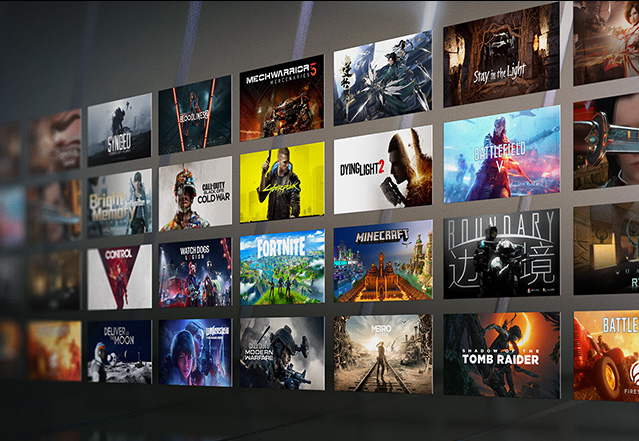 Aktuelle Blockbuster Games mit Echtzeit-Raytracing u. KI-gestütztem DLSS