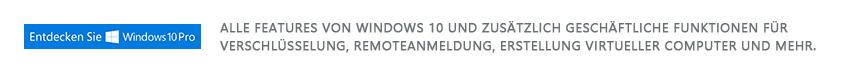 Entdecken Sie Windows 10 Pro